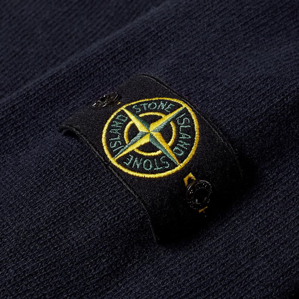 Stone Island Winter Cotton Cardigan - Navy