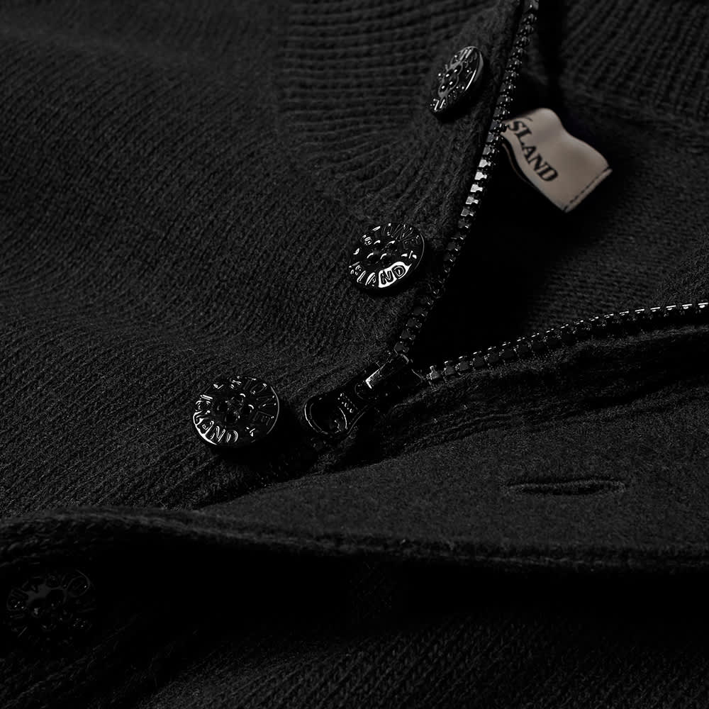 Stone Island Winter Cotton Cardigan - Black