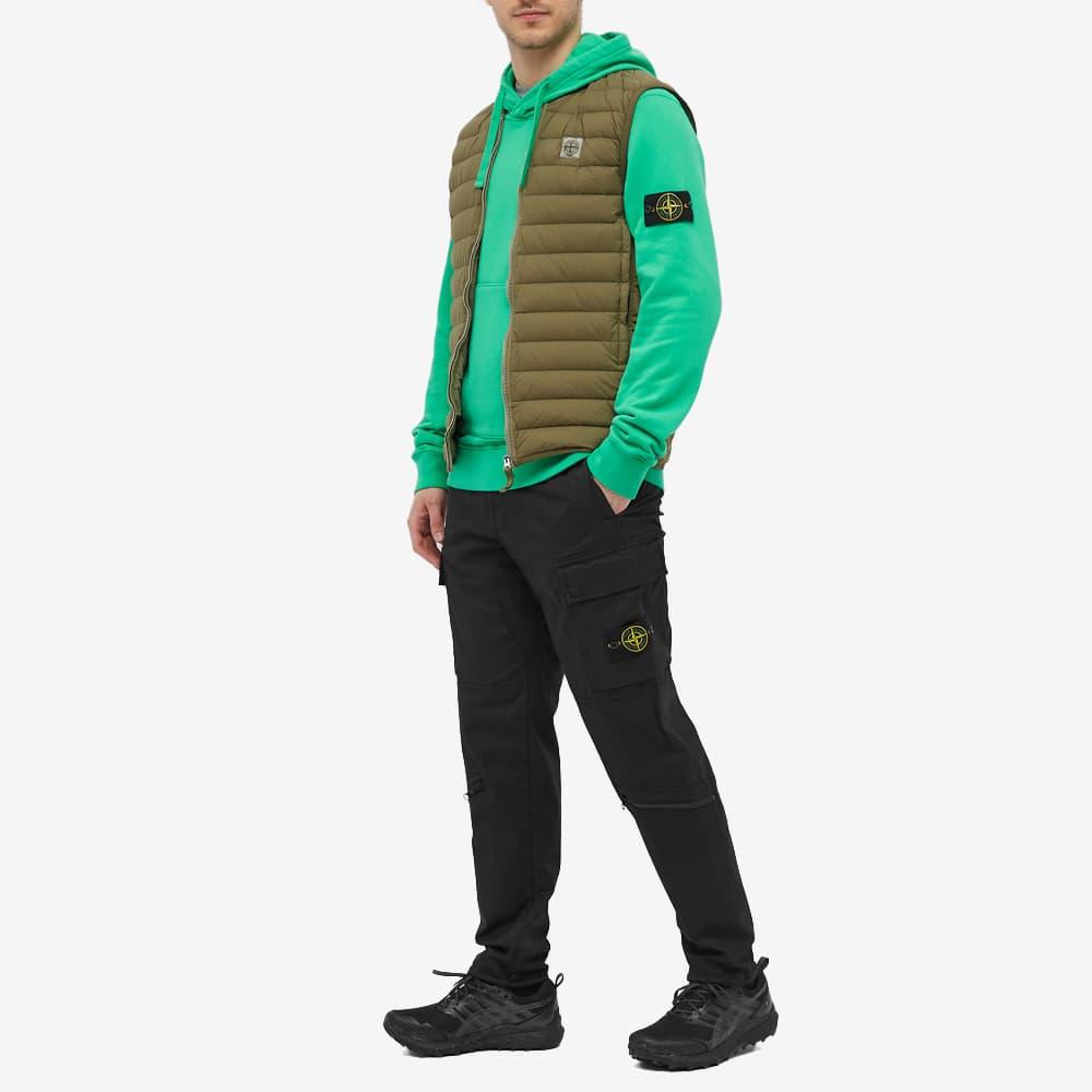 Stone Island Garment Dyed Popover Hoody - Bright Green