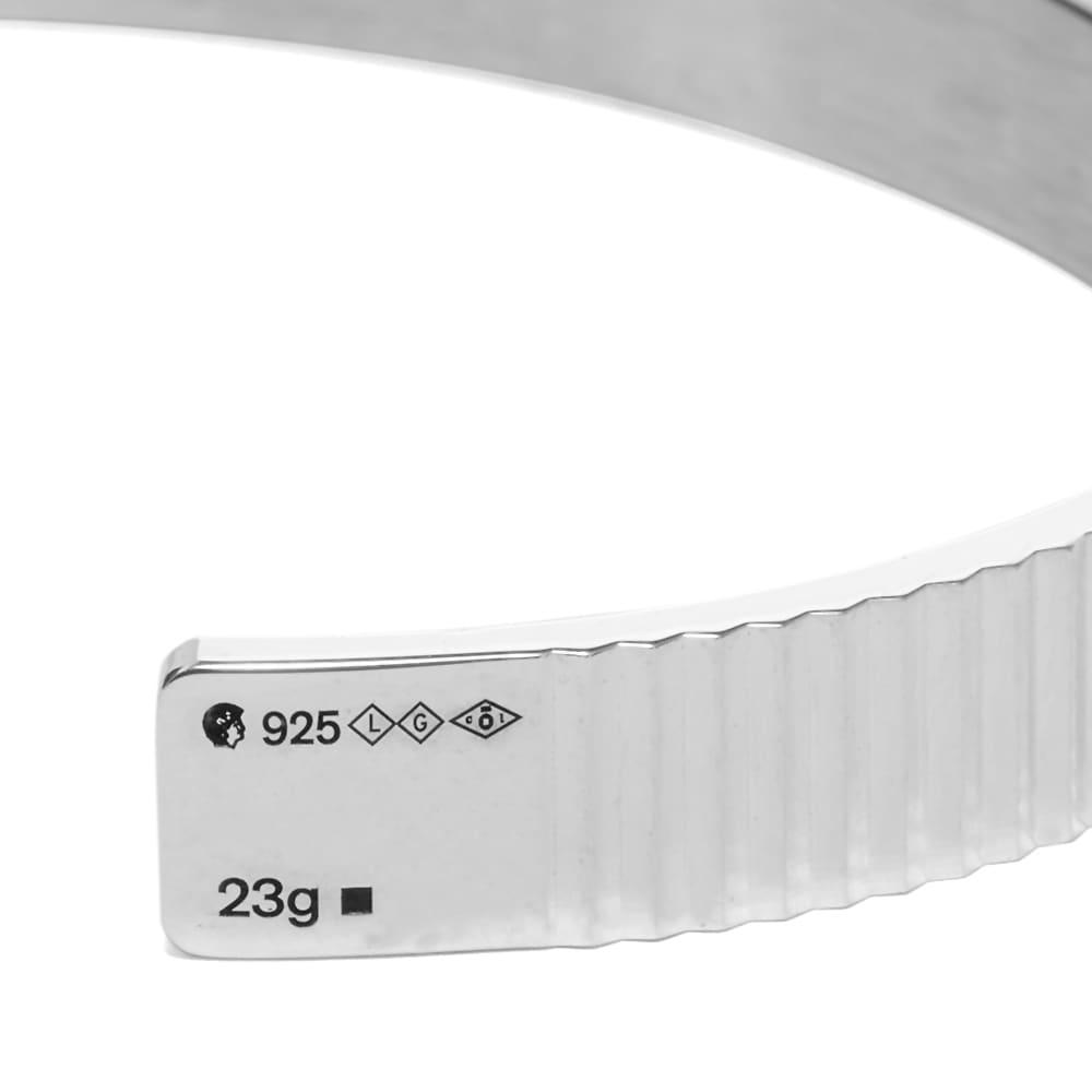 Le Gramme Guilloche Vertical Bracelet - Sterling Silver 23g