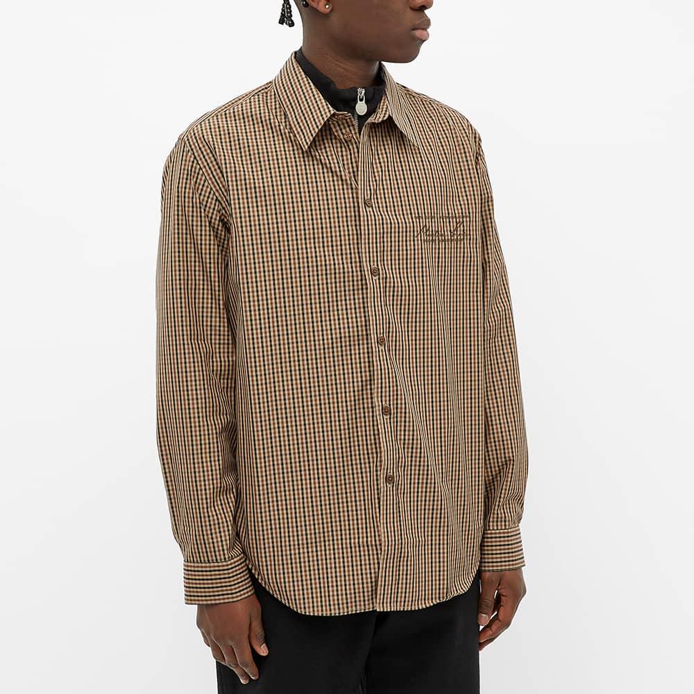 Martine Rose Long Sleeve Button Down Shirt - Brown Check