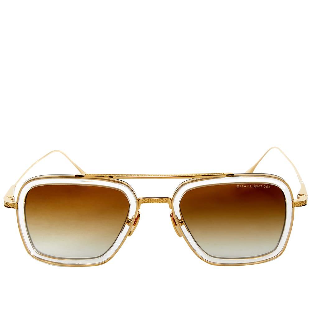 Dita Flight.006 Sunglasses - Yellow Gold & Brown