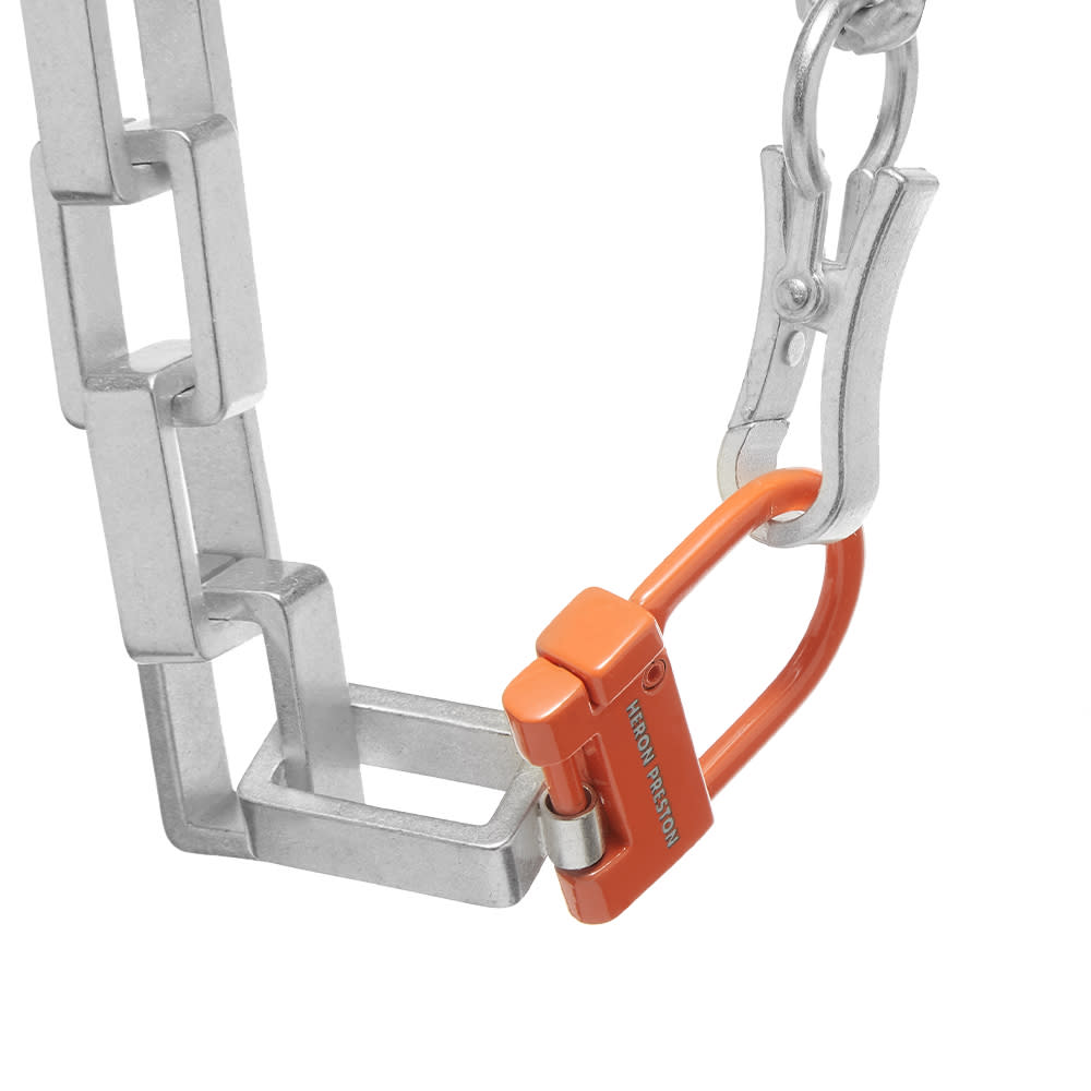 Heron Preston New Multichain Necklace - Silver