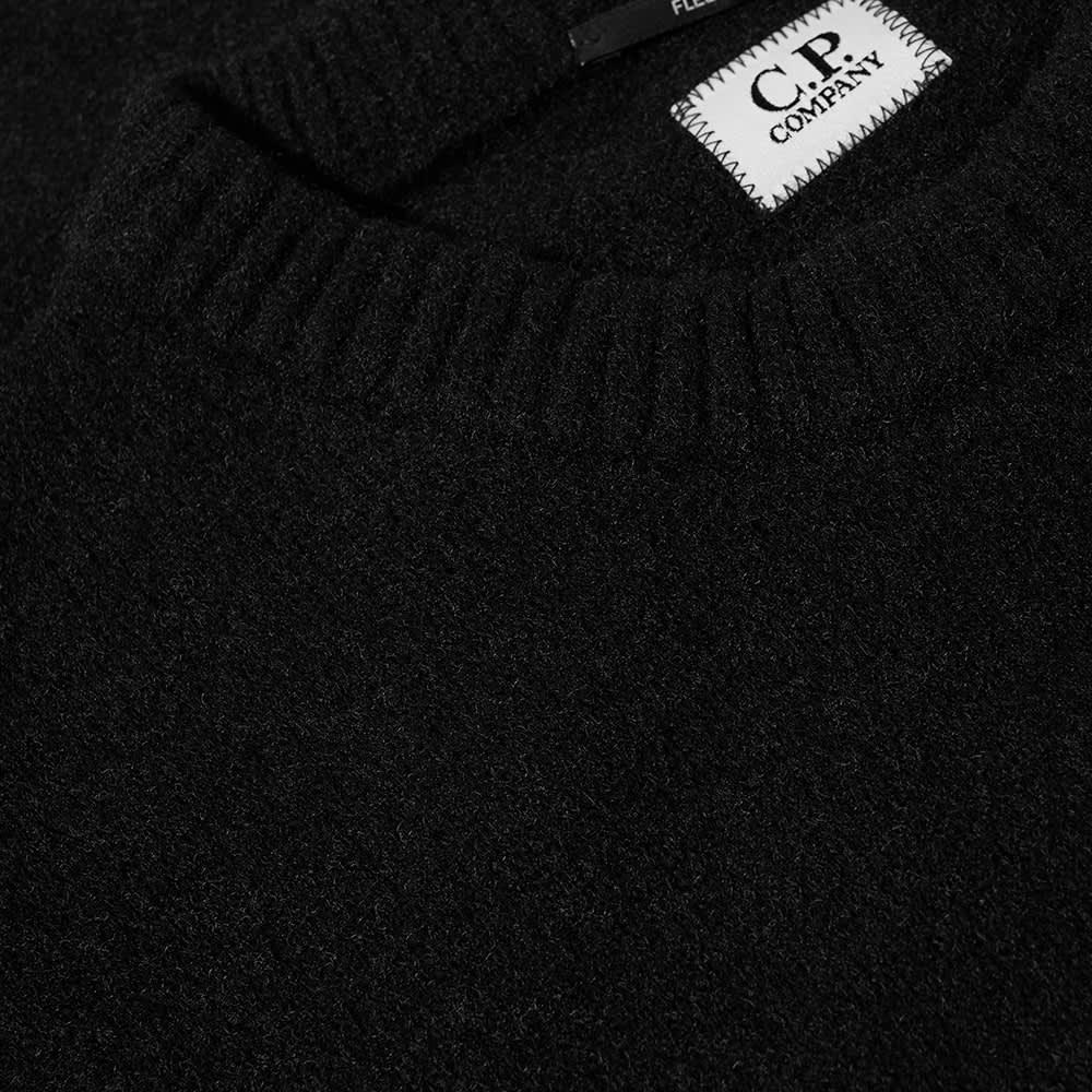 C.P. Company Arm Lens Fleece Knit Crew - Black