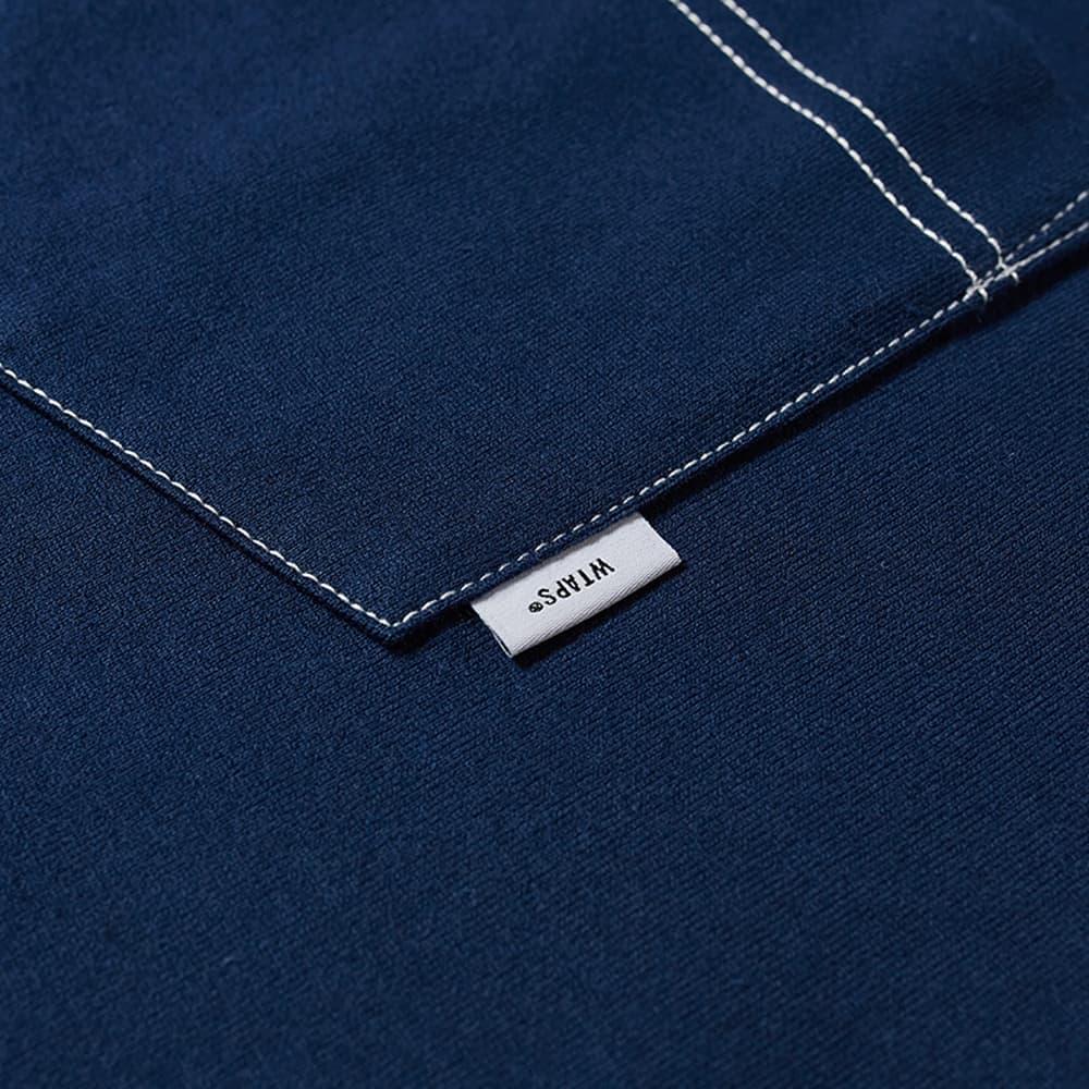 WTAPS Blank Contrast Stitch Pocket Tee - Navy