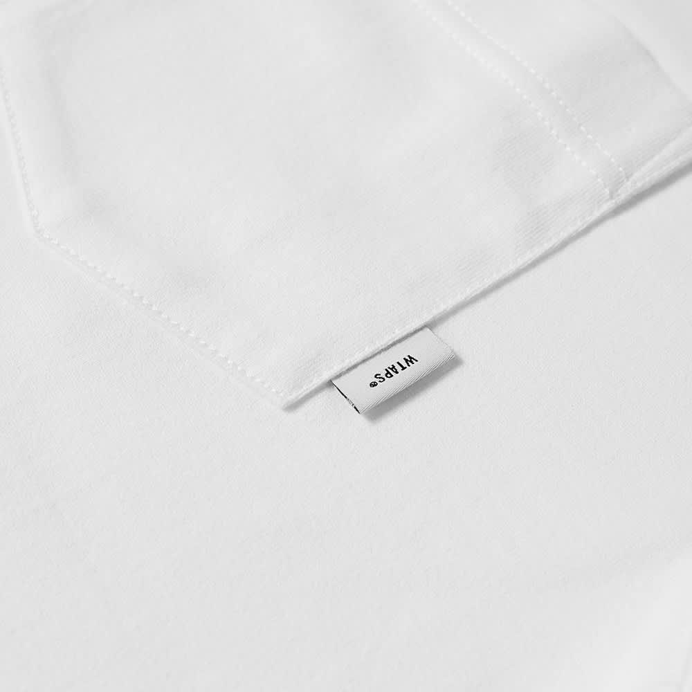 WTAPS Blank Contrast Stitch Pocket Tee - White