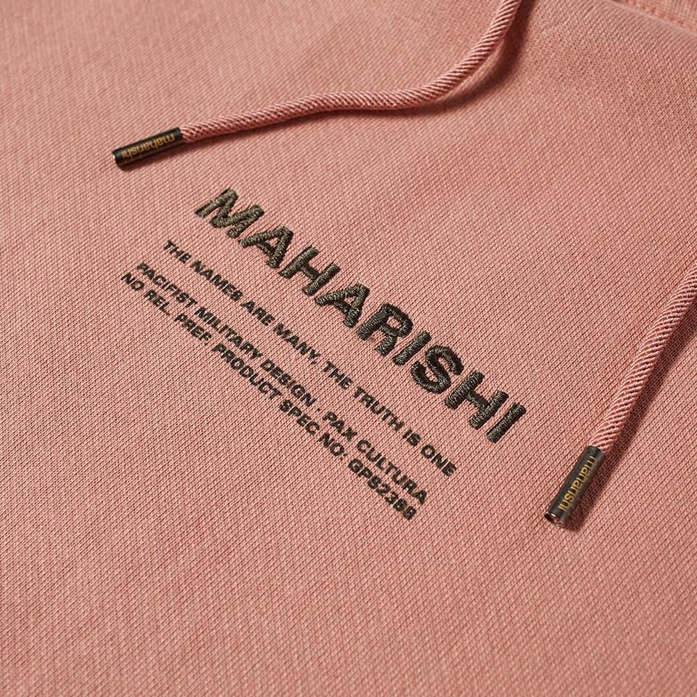 Maharishi MILTYPE Classic Popover Hoody - Pink Panther