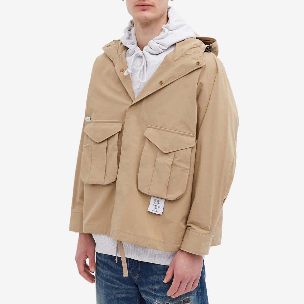 WTAPS Sbs Pocket Hooded Shirt Jacket - Beige