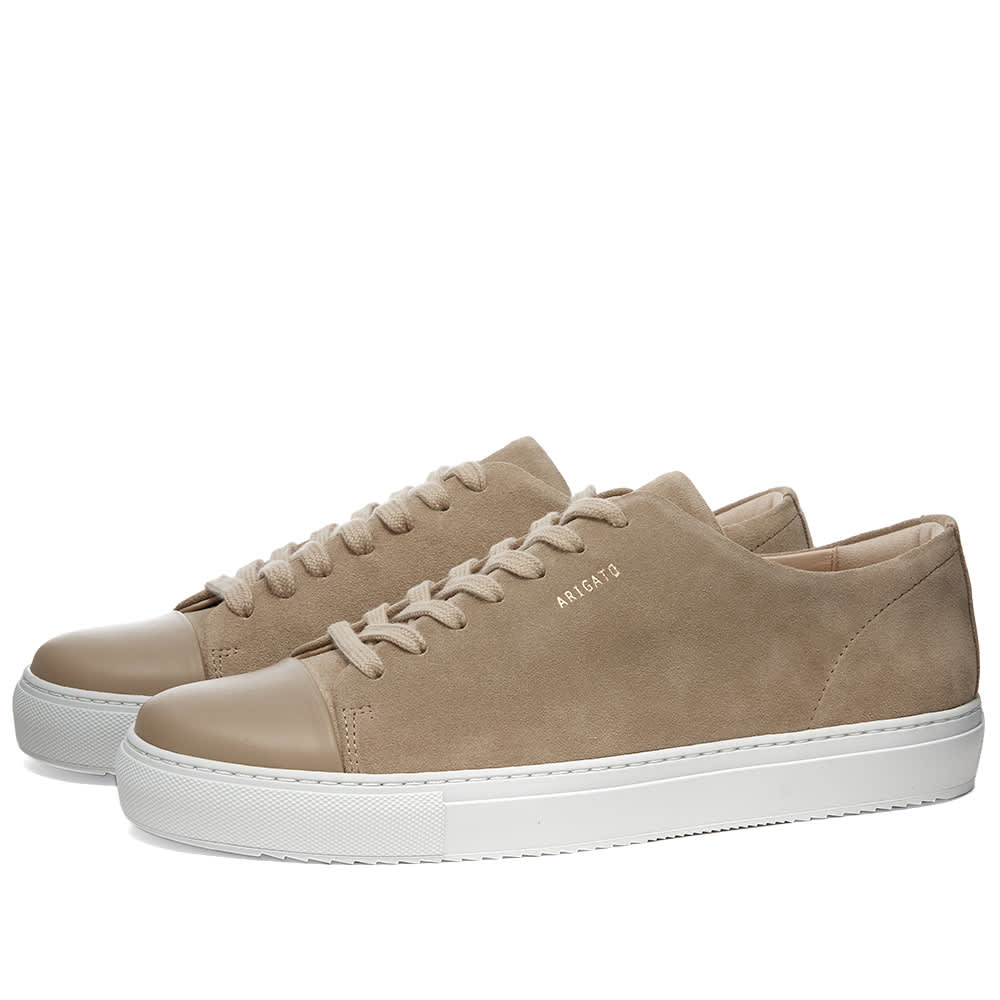 Axel Arigato Toe Cap Sneaker - Beige Suede