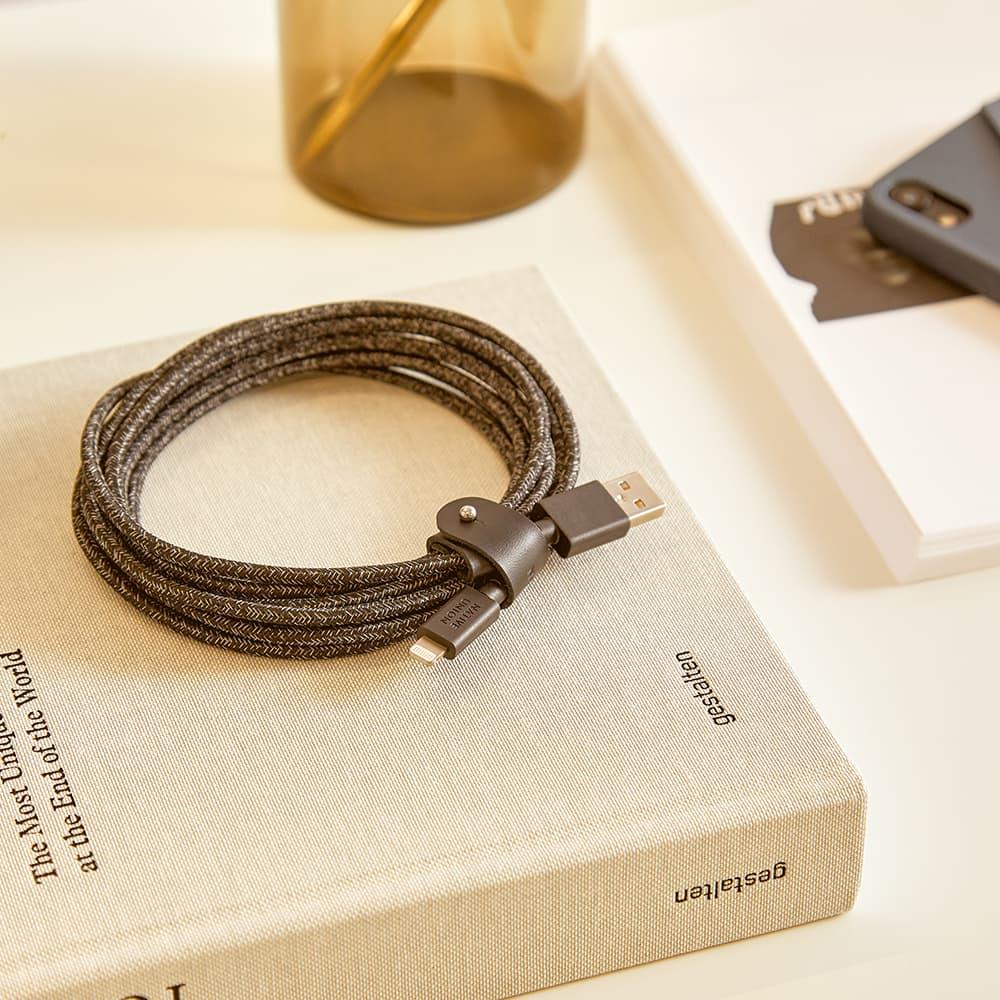 Native Union 3m Belt Cable 'Cosmos' - Black