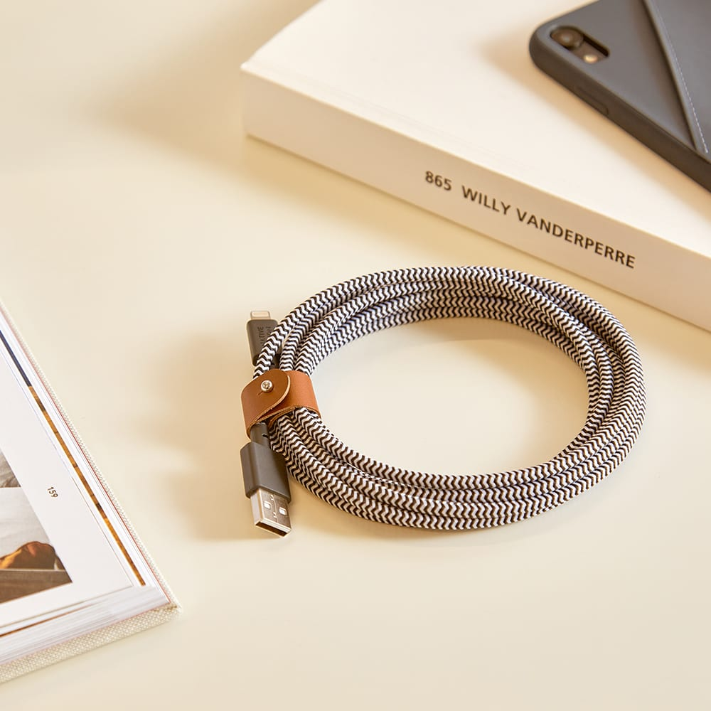 Native Union 3m Belt Cable - Black & White