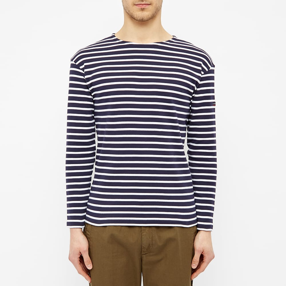 Armor-Lux 1525 Long Sleeve Loctudy Tee - Navy & White