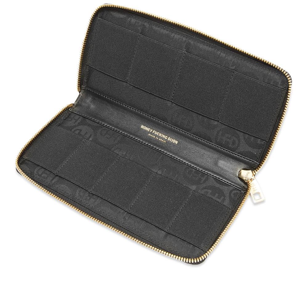 Honey Fucking Dijon Media Storage Leather Wallet - Black