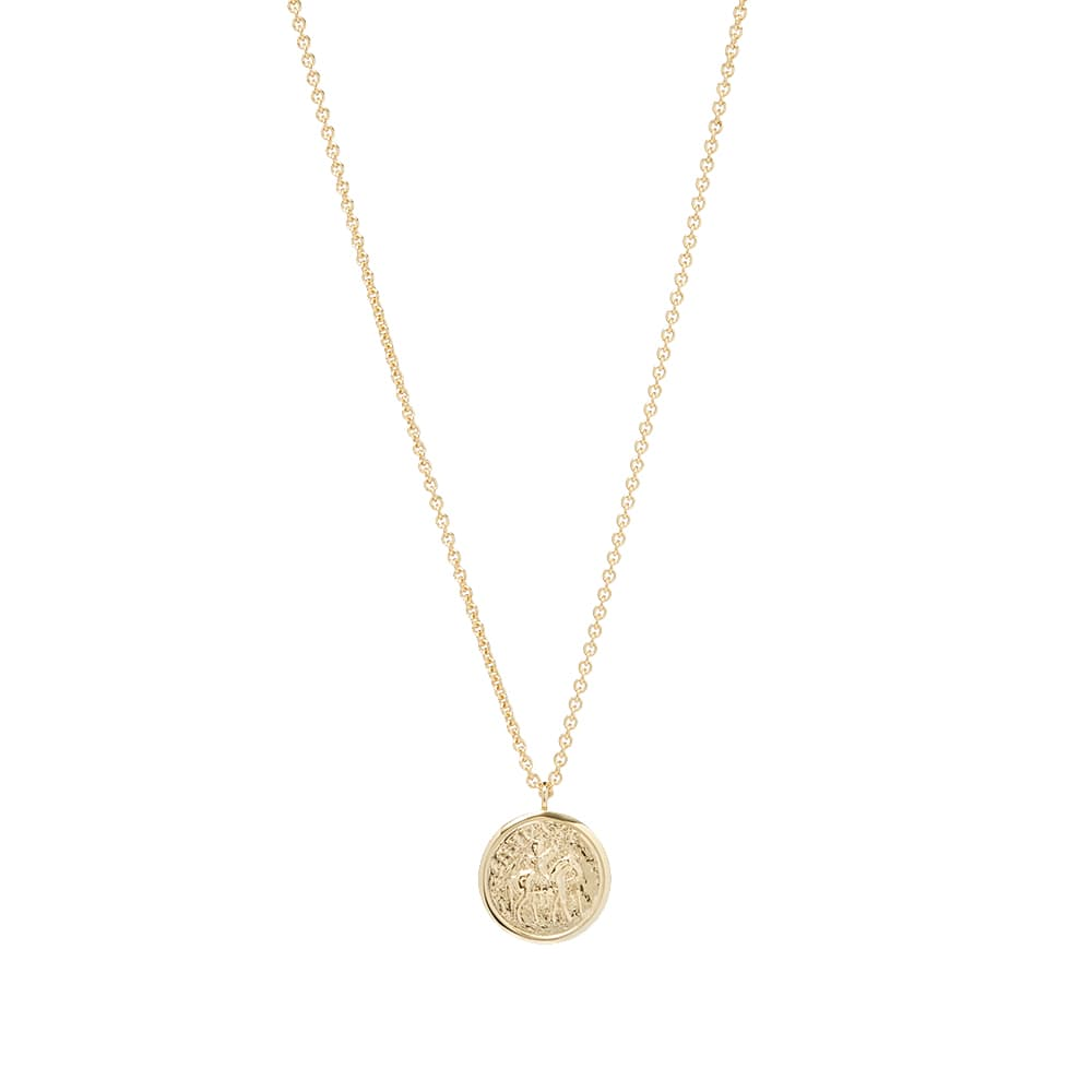 Tom Wood Coin Pendant - Gold