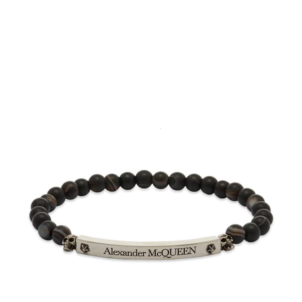 Alexander McQueen Skull & Beads Bracelet - Black