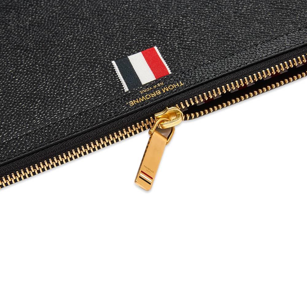 Thom Browne Large Zip Laptop Holder - Black Pebble Grain