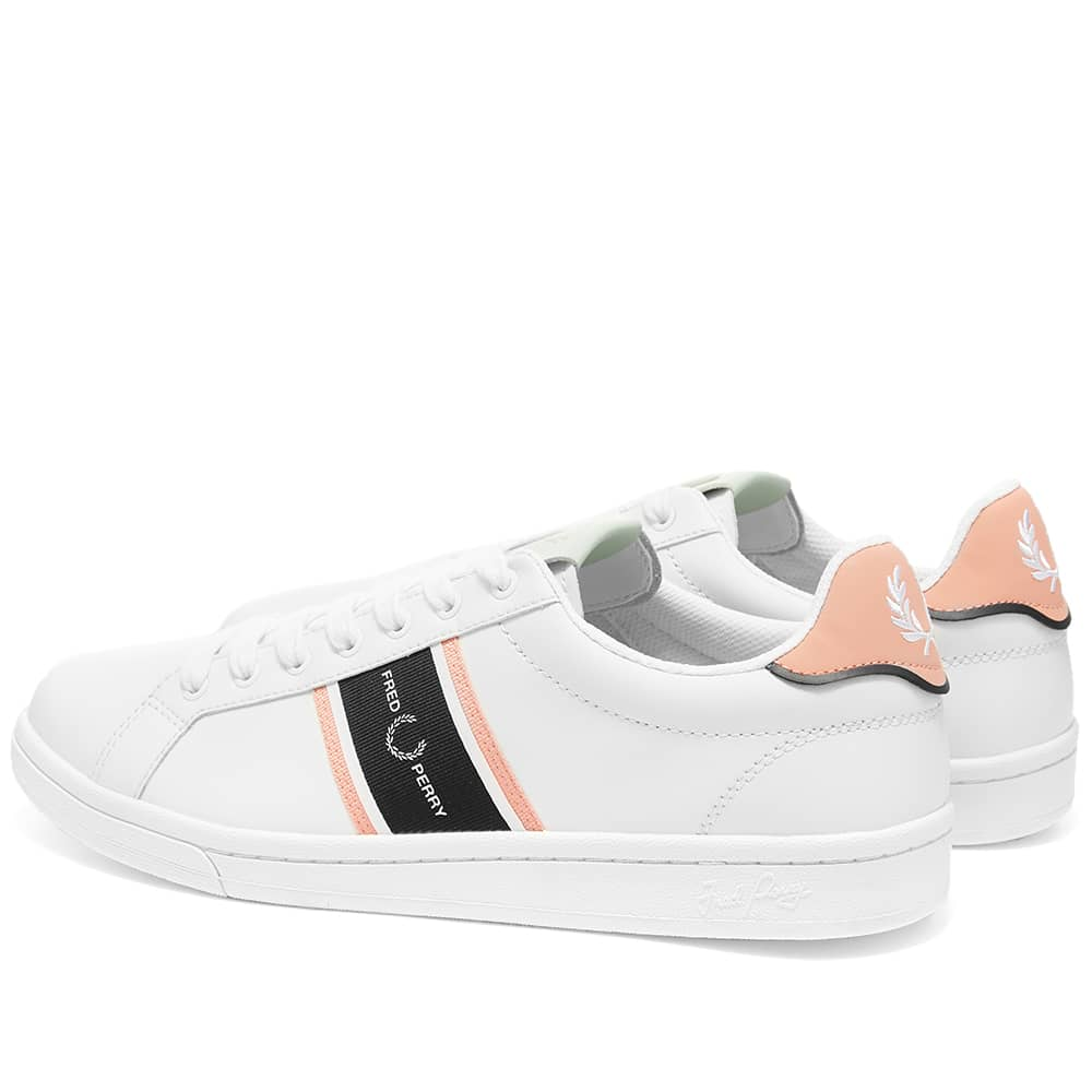 Fred Perry B721 Webbing Logo Sneaker - White & Pink