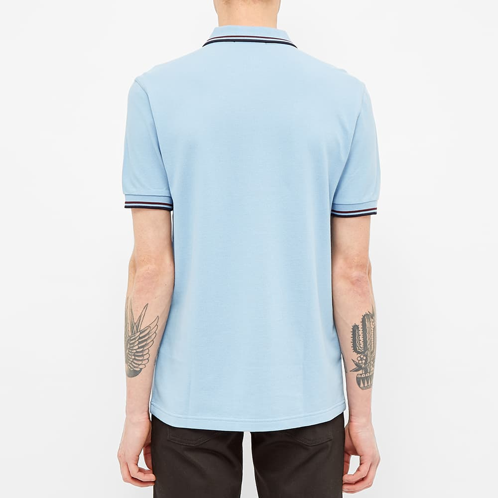 Fred Perry Slim Fit Twin Tipped Polo - Sky, Mahogany & Navy