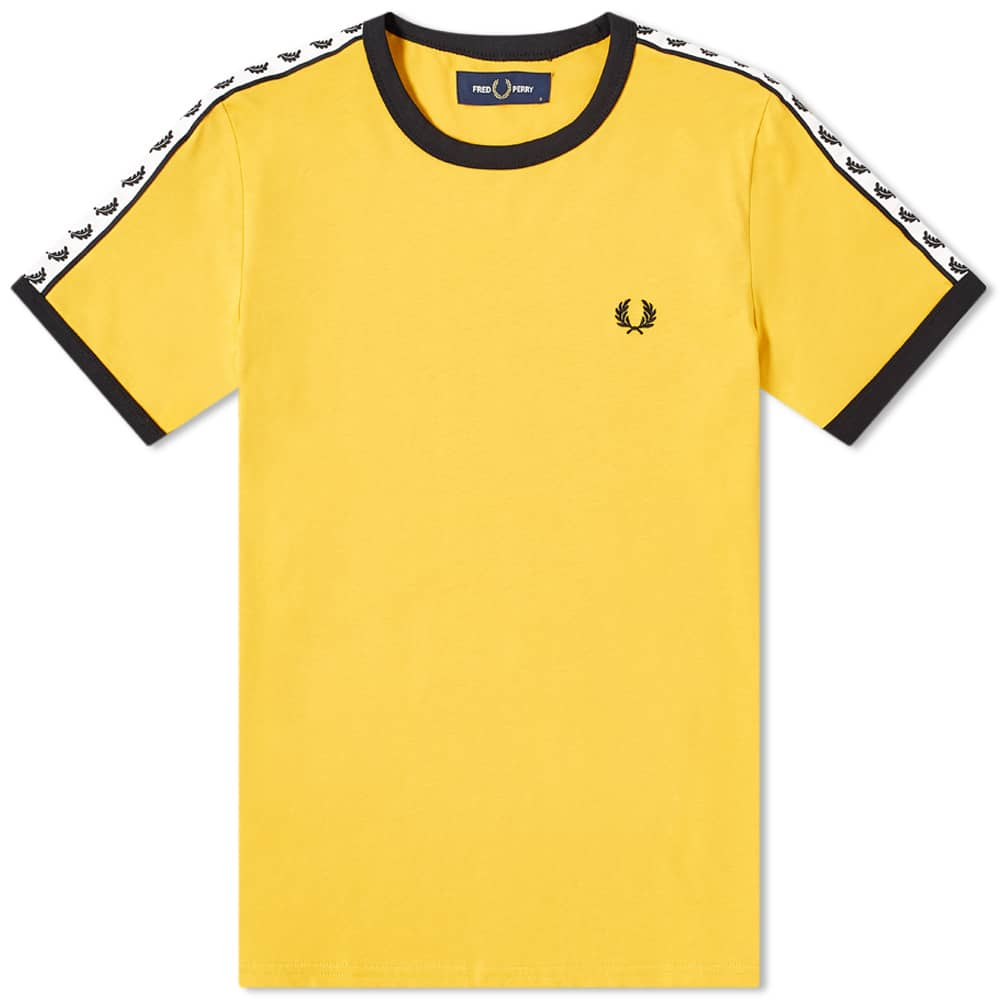 Fred Perry Taped Ringer Tee - Gold