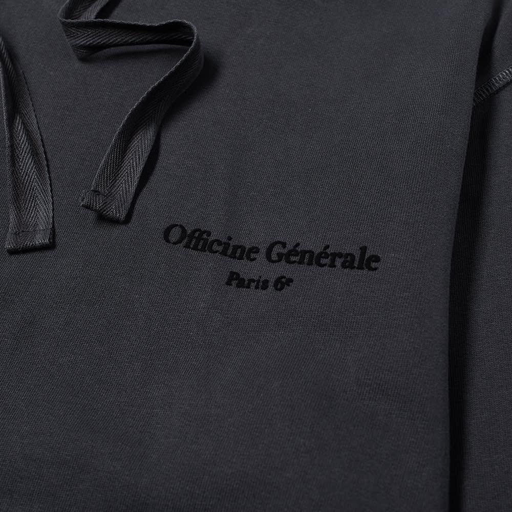 Officine Générale Olivier Flock Logo Hoody - Black
