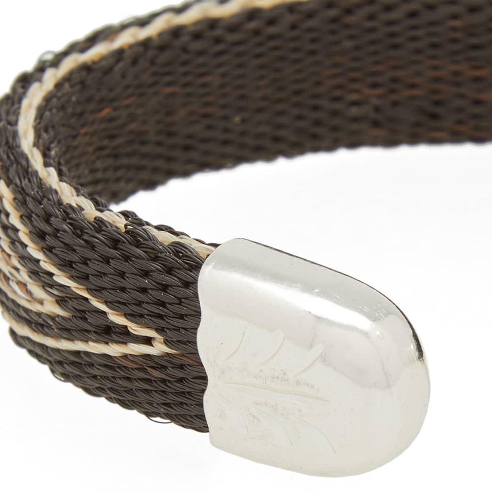 Chamula Horse Hair Bendable Bracelet - Black & Natural