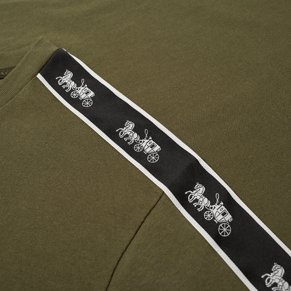 Coach Horse and Carriage Taped Sleeve Tee - Army Green