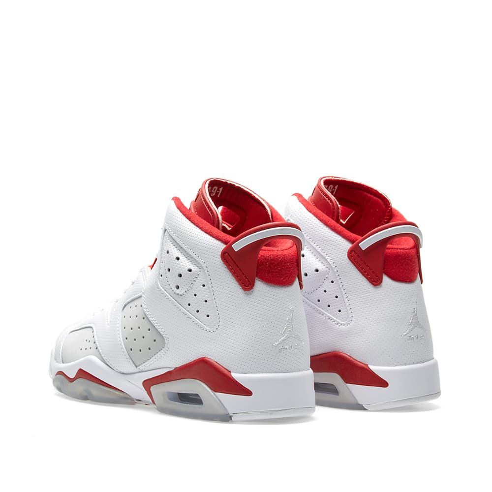 Nike Air Jordan 6 Alternate White Pure Platinum Gym Red