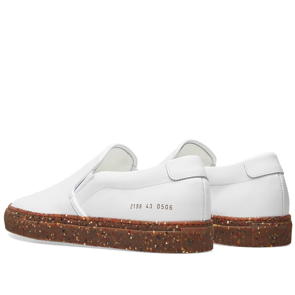 Common Projects Slip On Camo Sole - White
