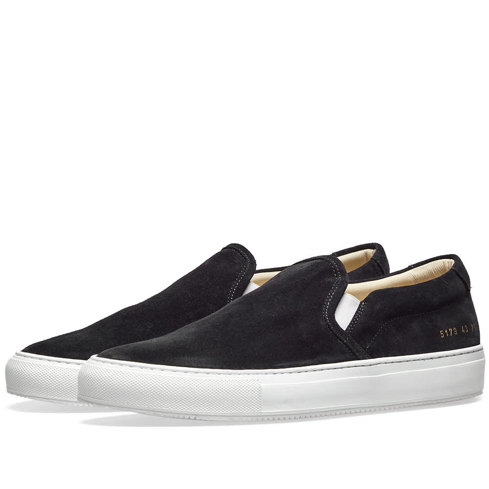 Common Projects Slip On Suede - Black