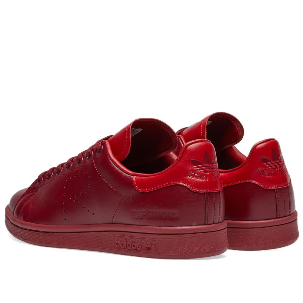Adidas x Raf Simons Stan Smith - Burgundy & Power Red