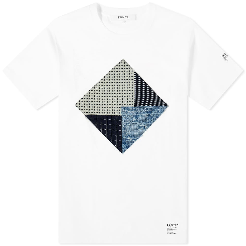 FDMTL Boro Patchwork Tee - White