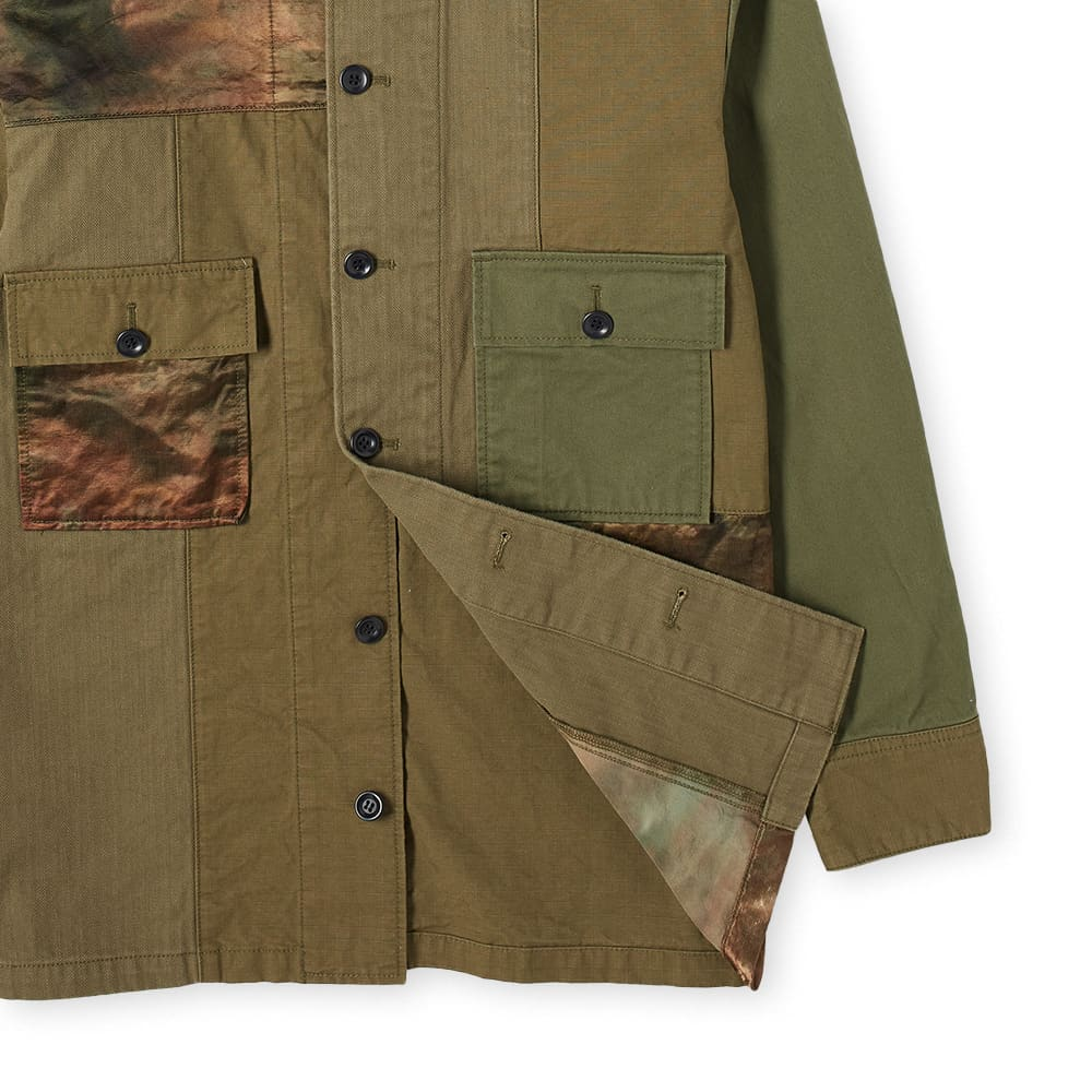 FDMTL Patchwork Shirt Jacket Rinse - Khaki