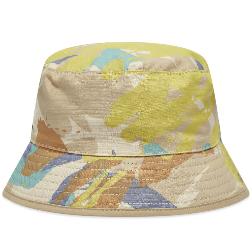 Element X Nigel Cabourn Reversible Camo Bucket Hat - Abstract Camo
