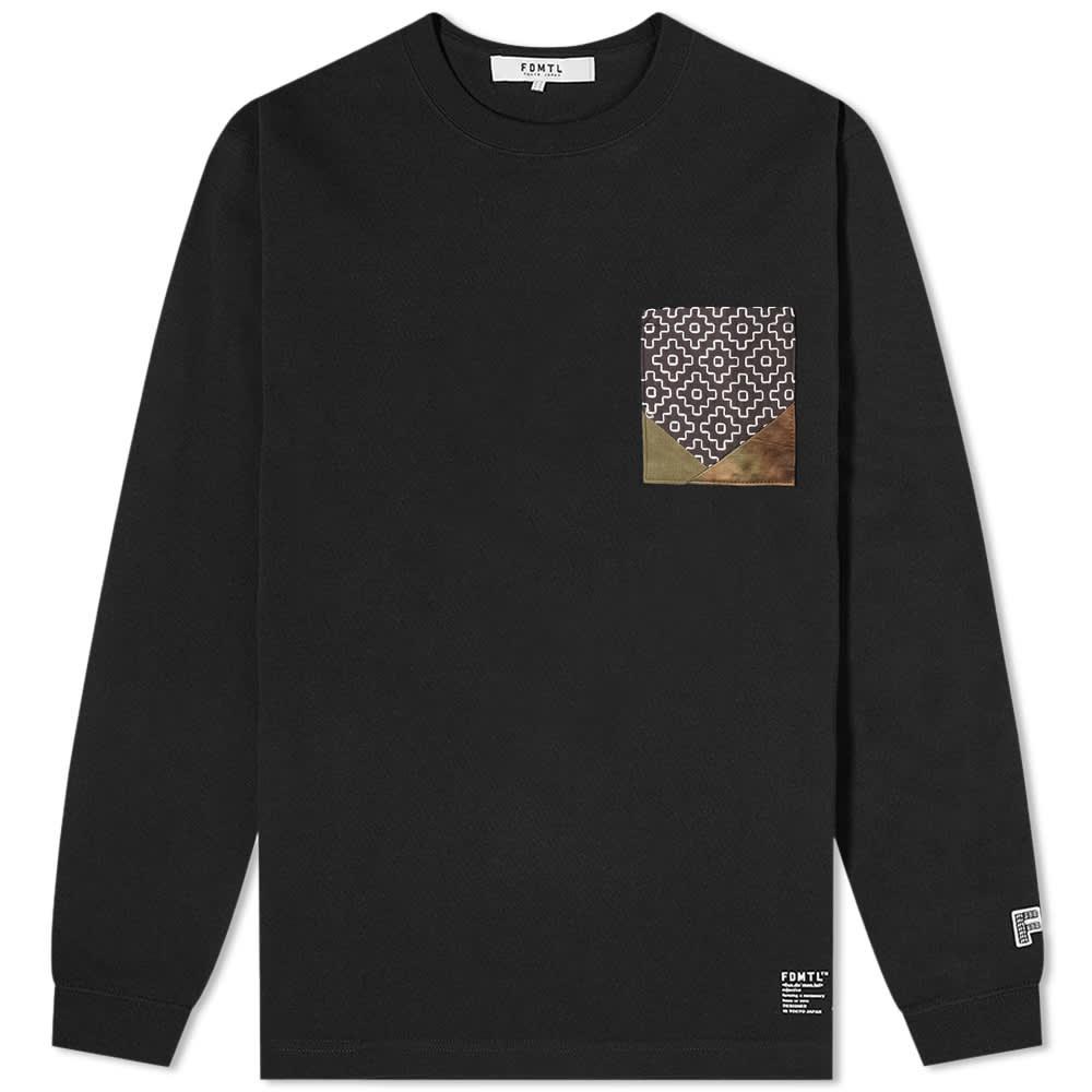 FDMTL L/S Origami Tee - Black