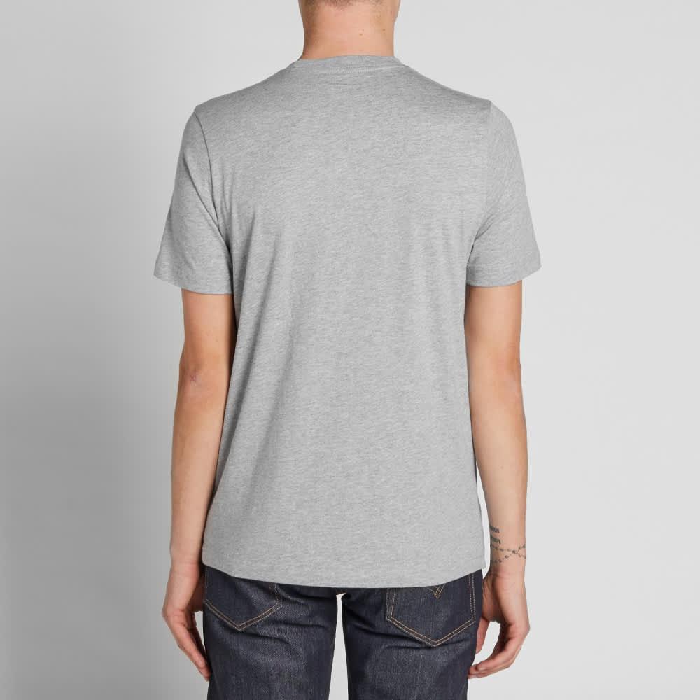 Paul Smith Multi Stripe Pocket Tee - Grey Marl