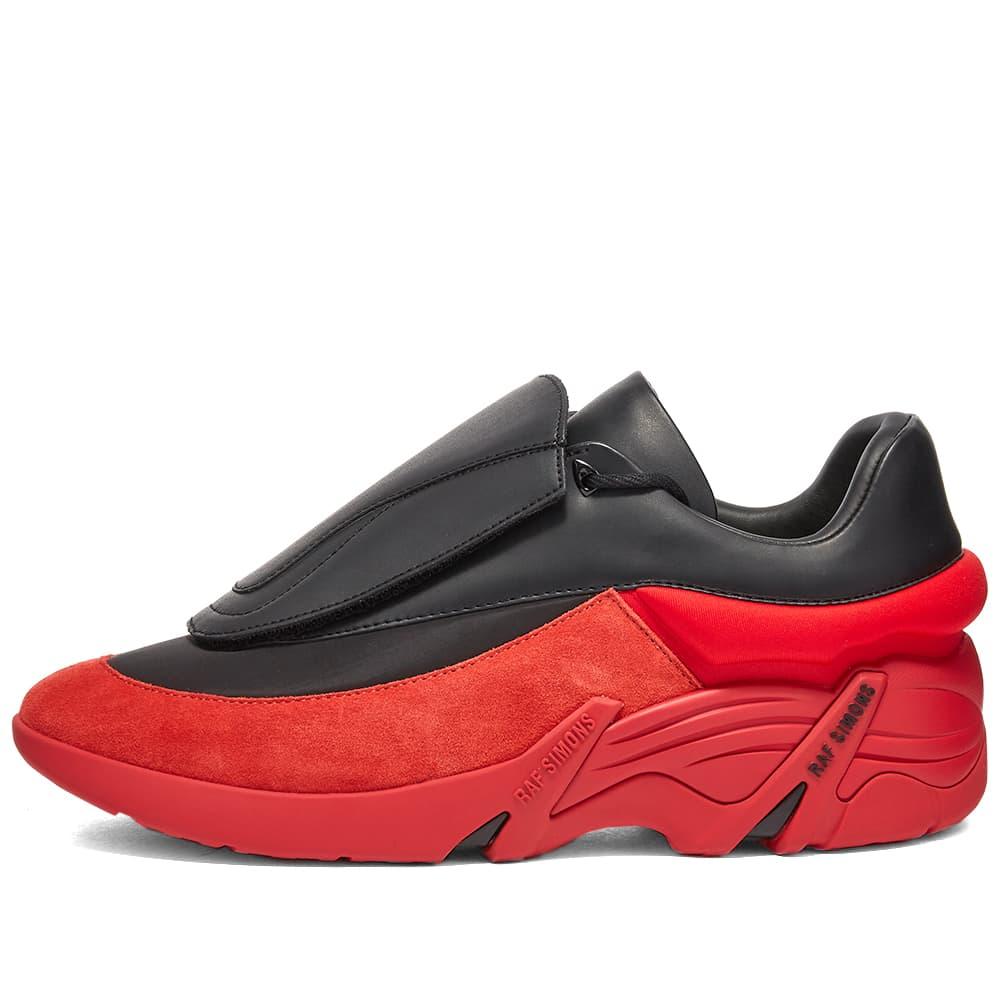 Raf Simons Antei Oversized 2 Tone Leather Runner - Black & Red