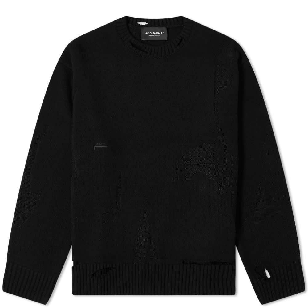 A-COLD-WALL* Destroy Oversized Knit - Black