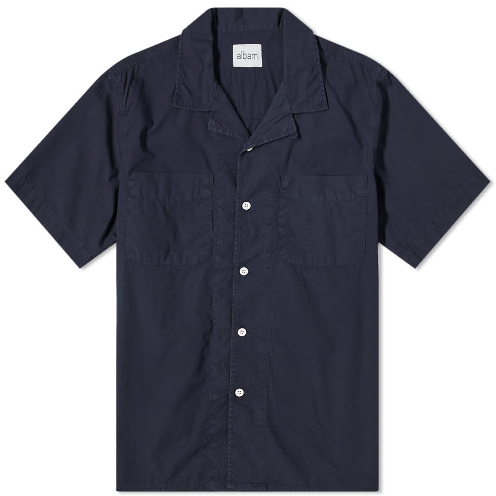 Albam Short Sleeve Vacation Shirt - Navy