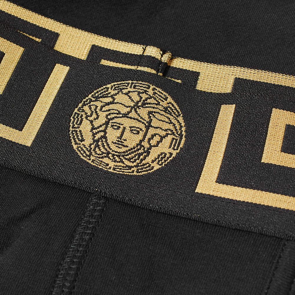 Versace Greek Logo Waistband Boxer Trunk - Black & Gold