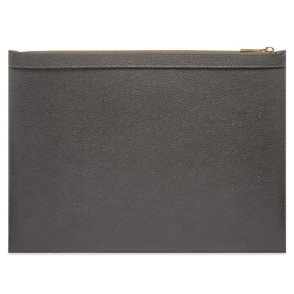 Thom Browne Medium Zipped Document Holder - Dark Grey