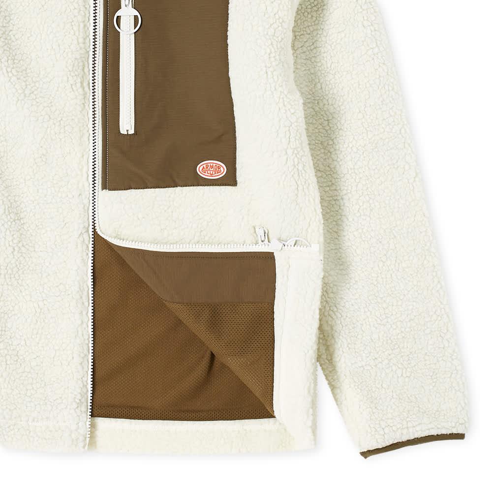 Armor-Lux Sherpa Fleece Jacket - Natural & Khaki