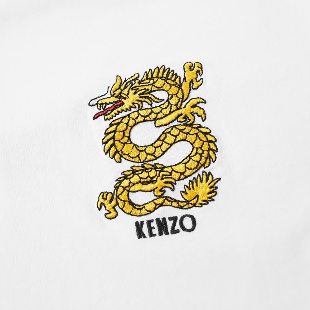 Kenzo Embroidered Dragon Tee - White
