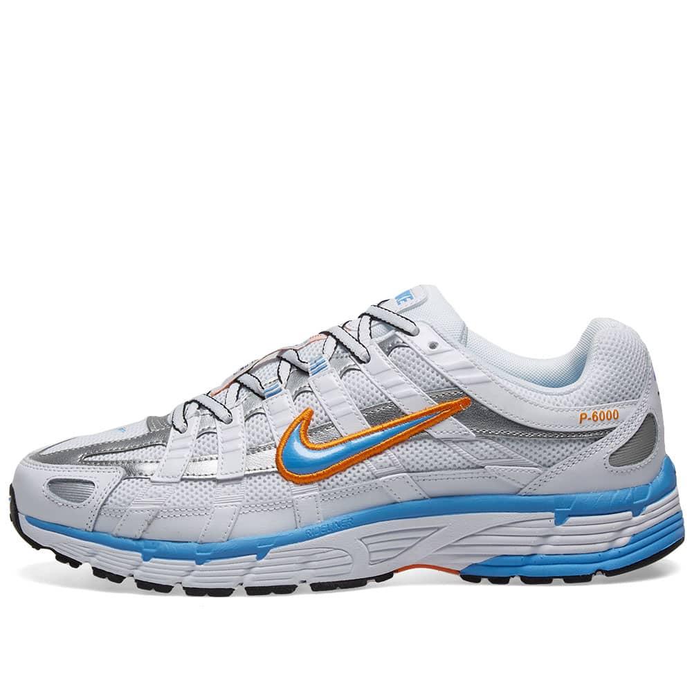 Nike P-6000 W White, Blue \u0026 Metallic