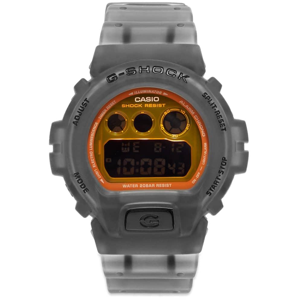 Casio G-Shock DW-6900LS See-Thru Colour Pop Watch - Grey & Orange