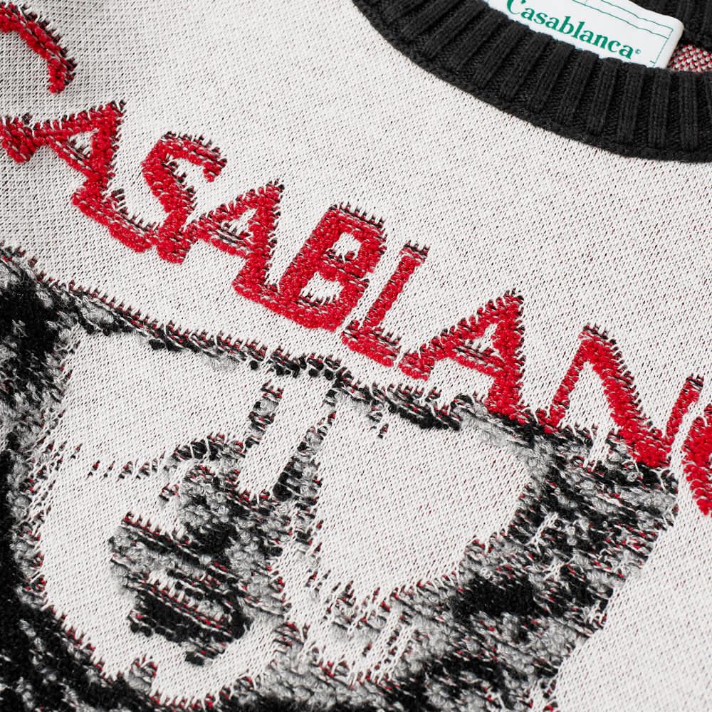 Casablanca Grand Prix Crew Knit - Off White
