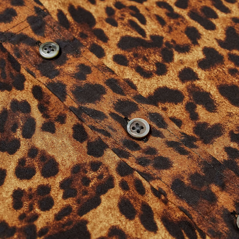 Engineered Garments Leopard Button Down 19th Century Shirt - Brown Leopard