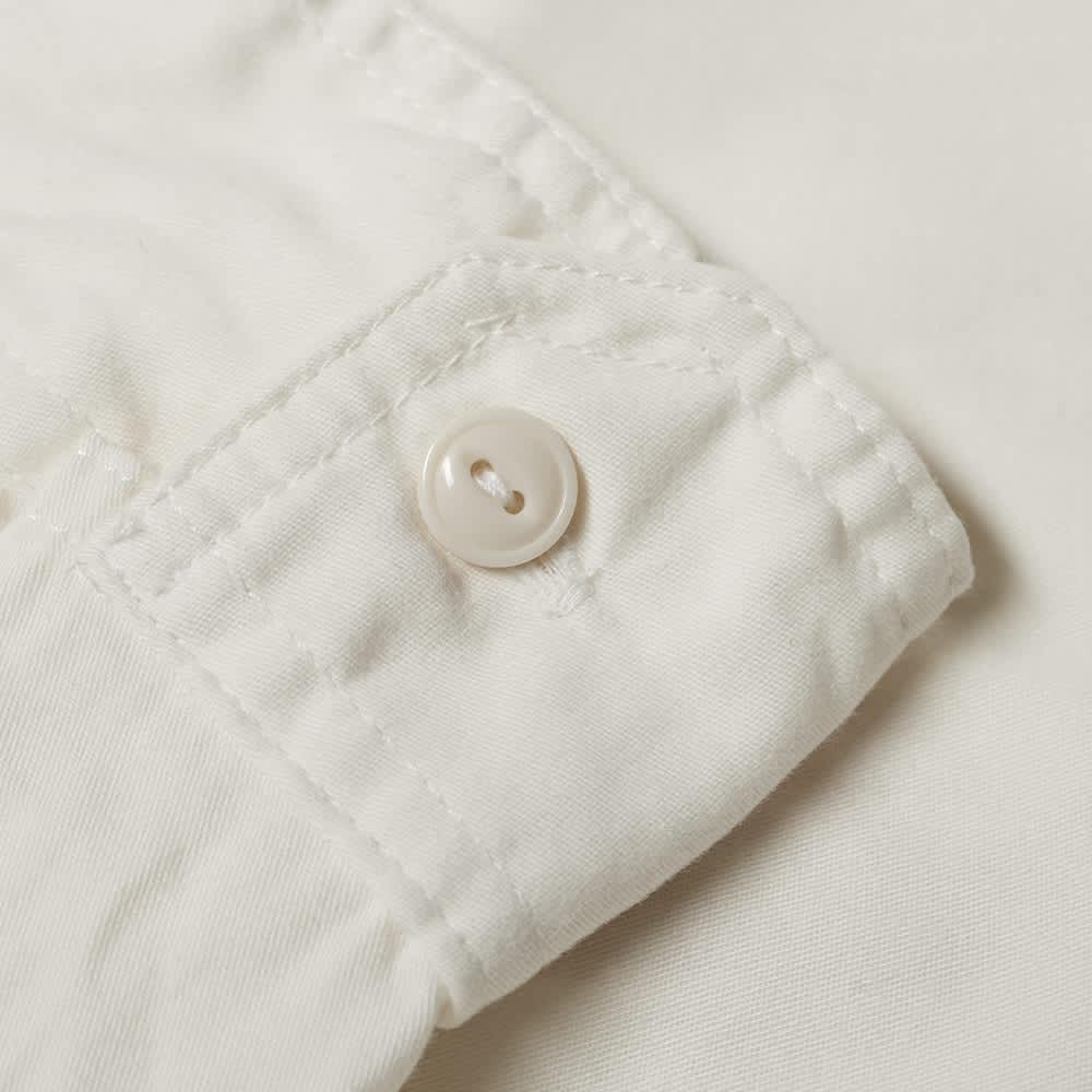 Engineered Garments Twill Work Shirt - Ivory Sanded Twill