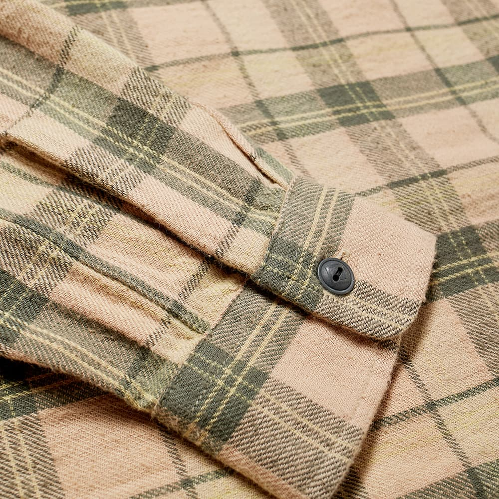 RRL Farrell Checked Workshirt - Dusty Rose & Grey