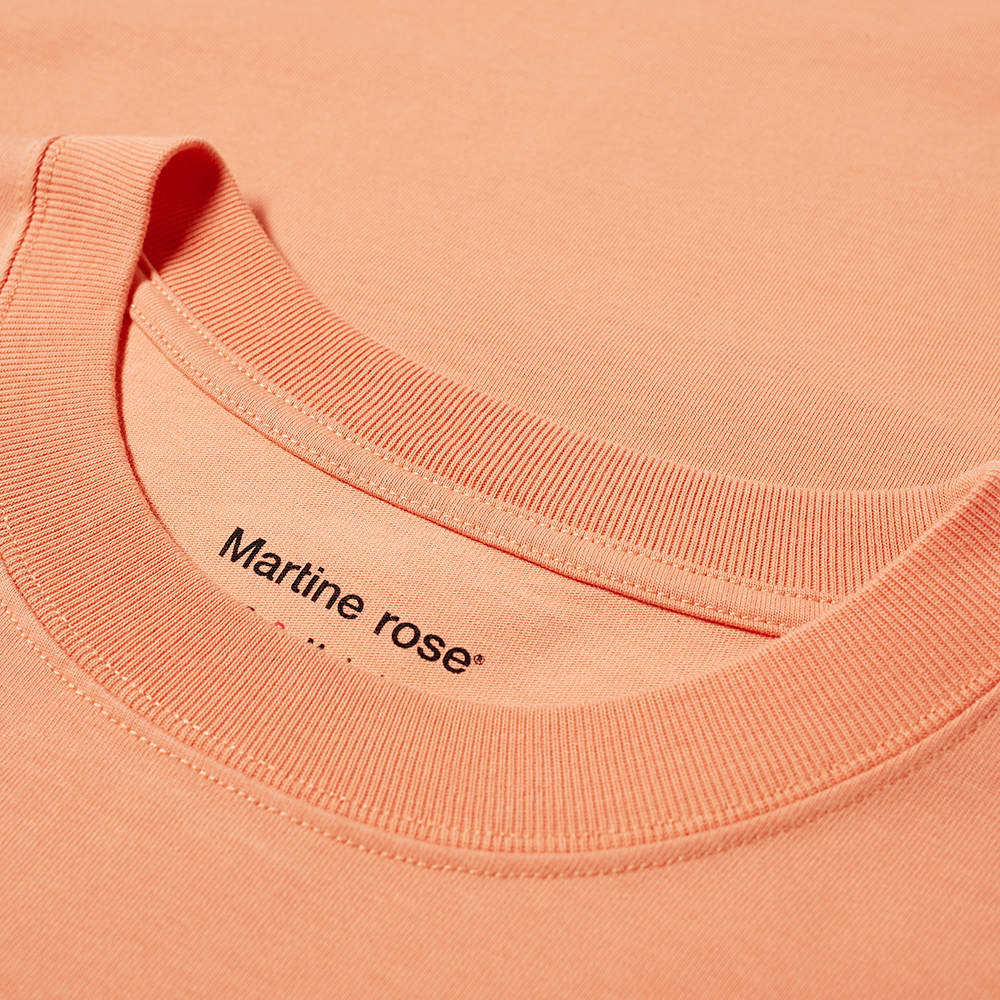 Martine Rose Relax Fit Cartoon Logo Tee - Coral