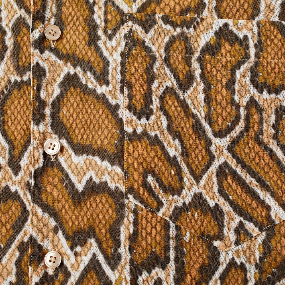 Martine Rose Oversize Python Print Vacation Shirt - Brown Python